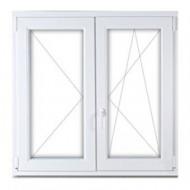 Kétszárnyú műanyag ablak