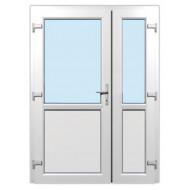 Kétszárnyú műanyag bejárati ajtó