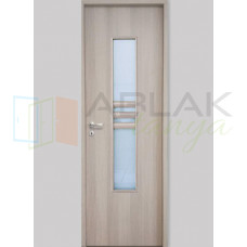 Cédrus dekorfóliás üveges beltéri ajtó (Blokktokos)