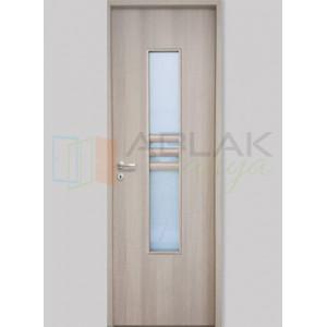 Cédrus dekorfóliás üveges beltéri ajtó (Blokktokos) - Beltéri ajtó