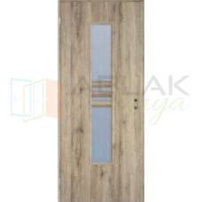 Csomóstölgy dekorfóliás üveges beltéri ajtó (Blokktokos)