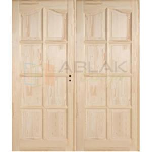 Fenyő íves kazettás beltéri ajtó tele 140x210 (Pallótokos)