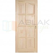 Fenyő íves kazettás beltéri ajtó tele (Pallótokos)