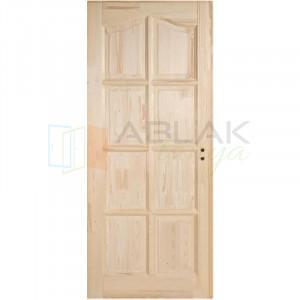 Fenyő íves kazettás beltéri ajtó tele (Pallótokos) - Beltéri ajtó