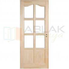 Fenyő íves kazettás beltéri ajtó üvegezhető (Pallótokos)