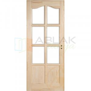 Fenyő íves kazettás beltéri ajtó üvegezhető (Pallótokos) - Beltéri ajtó