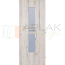 Havas Tölgy dekorfóliás üveges beltéri ajtó (Blokktokos)
