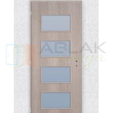 Cédrus dekorfóliás üveges beltéri ajtó merano (Blokktokos)