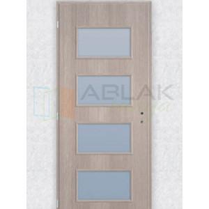 Cédrus dekorfóliás üveges beltéri ajtó merano (Blokktokos) - Beltéri ajtó