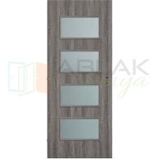 Szürke Tölgy dekorfóliás merano beltéri ajtó (Blokktokos)