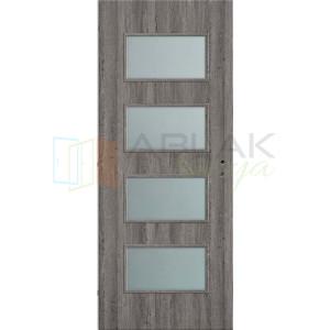 Szürke Tölgy dekorfóliás merano beltéri ajtó (Blokktokos) - Beltéri ajtó