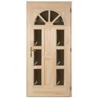 Borovi napsugár 6 üveges fa bejárati ajtó
