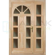 Borovi napsugár kétszárnyas fa bejárati ajtó