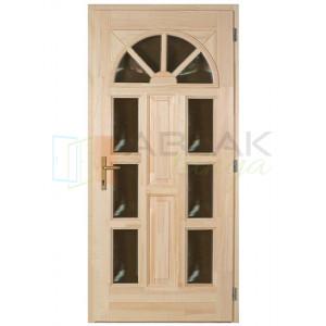 Borovi napsugár 6 üveges fa bejárati ajtó - Egyszárnyú fa bejárati ajtó