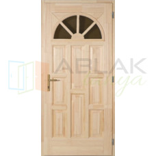 Borovi napsugár tele fa bejárati ajtó