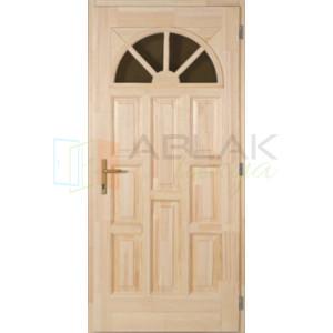 Borovi napsugár tele fa bejárati ajtó - Egyszárnyú fa bejárati ajtó