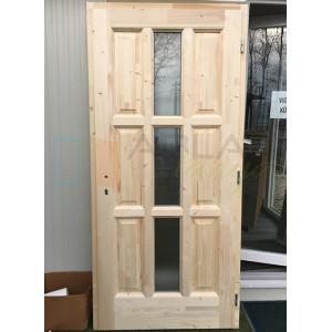 Lucfenyő fa bejárati ajtó - Egyszárnyú fa bejárati ajtó