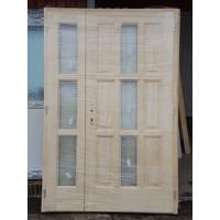 Lucfenyő kétszárnyas fa bejárati ajtó