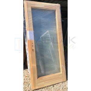 Tele üveges Borovi fa bejárati ajtó