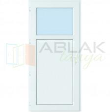 Egyharmad üveges műanyag mellékbejárati ajtó (Katedrál üveges)