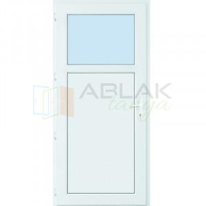 Egyharmad üveges műanyag mellékbejárati ajtó (Katedrál üveges) - Mellékbejárati ajtó
