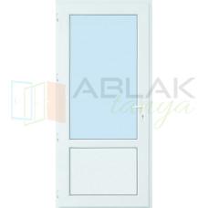 Kétharmad üveges műanyag mellékbejárati ajtó (Átlátszó üveges)