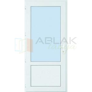 Kétharmad üveges műanyag mellékbejárati ajtó (Átlátszó üveges) - Mellékbejárati ajtó