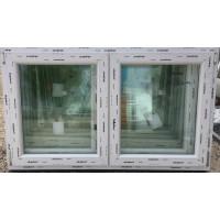 150x90 műanyag ablak, kétszárnyú, váltószárnyas, nyíló-bukó/nyíló