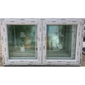 Műanyag ablak váltószárnyas 150x90 nyíló-bukó/nyíló - Kétszárnyú műanyag ablak
