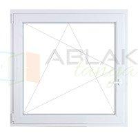 100x100 műanyag ablak, egyszárnyú, bukó/nyíló