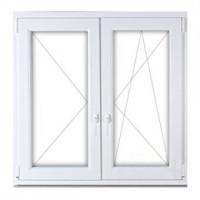 150x150 műanyag ablak, kétszárnyú, tokosztott, nyíló-bukó/nyíló, 3 réteg üveg