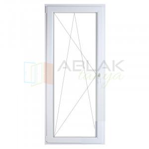 Műanyag erkélyajtó 90x210 nyíló (átmenő kilincses) - Erkély ajtó