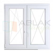 Fele fix - fele bukó/nyíló műanyag ablak 160x130