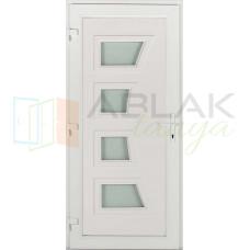 Dorina 4 üveges műanyag bejárati ajtó