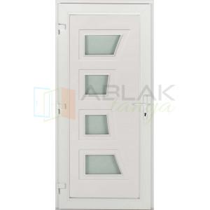 Dorina 4 üveges műanyag bejárati ajtó - Egyszárnyú műanyag bejárati ajtó