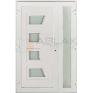 Dorina 4 kétszárnyas műanyag bejárati ajtó - Kétszárnyú műanyag bejárati ajtó
