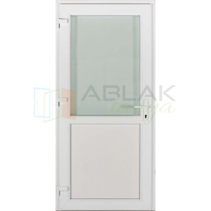 Félig üveges műanyag bejárati ajtó - Egyszárnyú műanyag bejárati ajtó