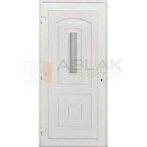 Odera kis üveges műanyag bejárati ajtó - Egyszárnyú műanyag bejárati ajtó