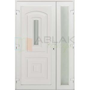 Kis Odera kétszárnyas műanyag bejárati ajtó - Kétszárnyú műanyag bejárati ajtó