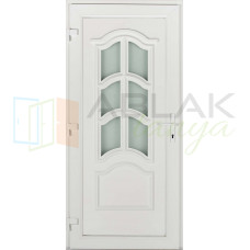 Korzika 6 üveges műanyag bejárati ajtó