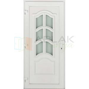 Korzika 6 üveges műanyag bejárati ajtó - Egyszárnyú műanyag bejárati ajtó