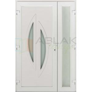 Léna kétszárnyas műanyag bejárati ajtó - Kétszárnyú műanyag bejárati ajtó