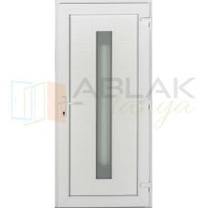 Los Angeles műanyag bejárati ajtó fehér/fehér