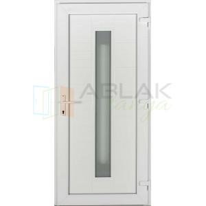 Los Angeles műanyag bejárati ajtó fehér/fehér - Egyszárnyú műanyag bejárati ajtó