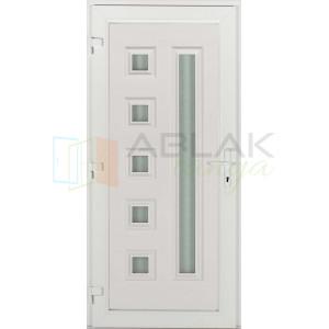 Max 6 üveges műanyag bejárati ajtó - Egyszárnyú műanyag bejárati ajtó
