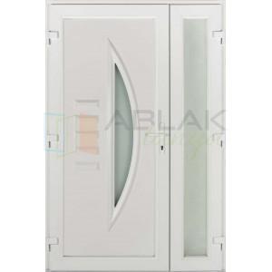Opál kétszárnyas műanyag bejárati ajtó - Kétszárnyú műanyag bejárati ajtó