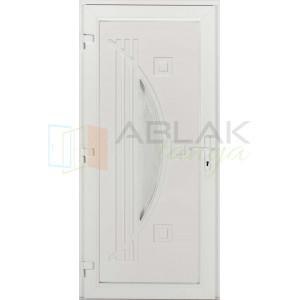 Róma műanyag bejárati ajtó - Egyszárnyú műanyag bejárati ajtó