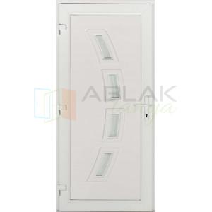 Rubin 4 üveges műanyag bejárati ajtó - Egyszárnyú műanyag bejárati ajtó