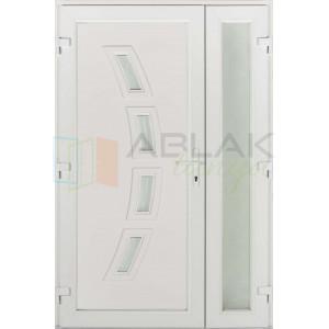 Rubin 4 üveges kétszárnyas műanyag bejárati ajtó