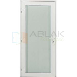 Tele üveges műanyag bejárati ajtó - Egyszárnyú műanyag bejárati ajtó